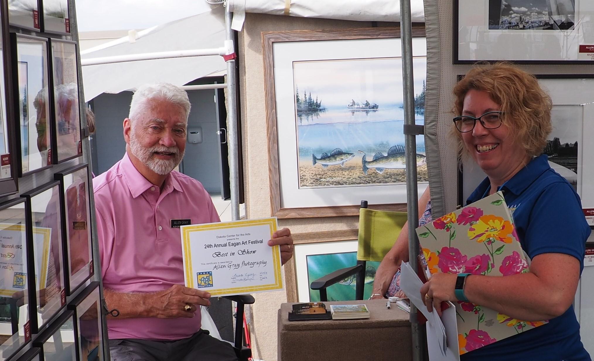 Artist award Eagan Art Festival